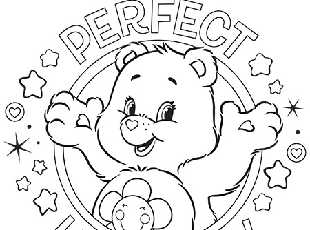 Perfect Harmony Care Bears Coloring Page Ag Kidzone Colouring Page