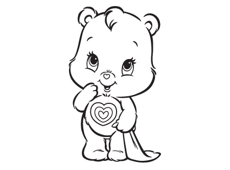 What Is Wonderheart Wondering Care Bears Activity Bear Coloring Sheet