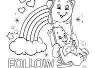 Follow Your Heart Care Bears Coloring Pages