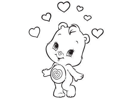 Wonderheart Bear Coloring Page