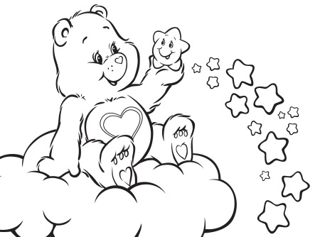 wish bear coloring pages - photo#31