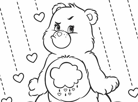Grumpy Day Care Bears Activity Bear Coloring Page