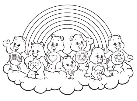 Caring On A Cloud Care Bears Activity