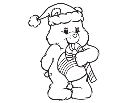Warm Winter Wishes Care Bears Coloring Page