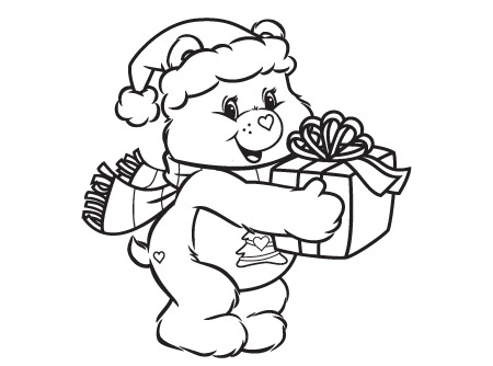 Warm Winter Wishes Care Bears Coloring Page AG Kidzone