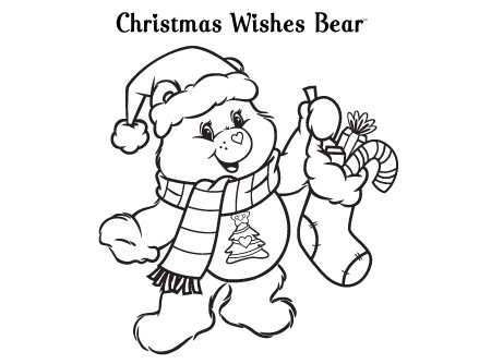 Giving is Receiving Care Bears Coloring Page AG Kidzone