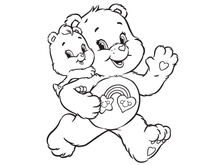 Best Friend Care Bear Coloring