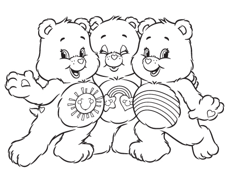 Share the love care bears activity ag kidzone for Care bears coloring pages