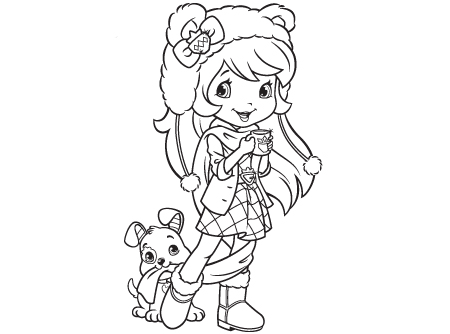 coloring pages of strawberry shortcake and friends - strawberry shortcake welcome to strawberry