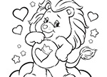 Meet Brave Heart Lion! Care Bears Coloring Pages