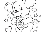 Meet Lotsa Heart Elephant! Care Bears Coloring Pages