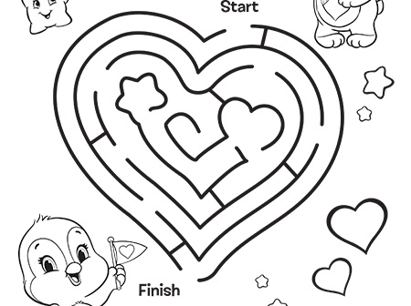 meet cozy heart penguin care bears coloring page - Coloring Pages Of A Heart