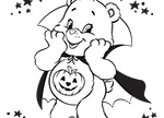 Scare up some Fun Care Bears Coloring Pages