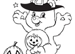 Happy Halloween Care Bears Coloring Pages