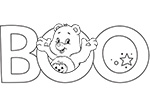 Boo! Care Bears Coloring Pages