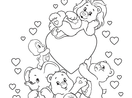Fun With Care Bears And Cousins Coloring Page