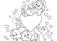 Fun with Care Bears and Cousins! Care Bears Coloring Pages