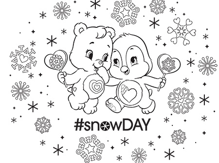 Wonderheart Bear And Cozy Heart Penguin Coloring Page