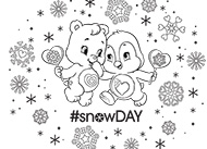 #snowDAY! Care Bears Coloring Pages