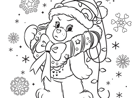 Merry Whatever Care Bears Coloring Page AG Kidzone