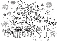 Giving is Receiving! Care Bears Coloring Pages