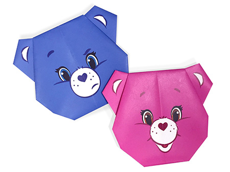 Care Bears Cheer Bear Origami Care Bears Activity Ag Kidzone