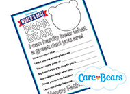 Father's Day Printable Activity Care Bears Activities