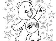 Meet America Cares Bear! Care Bears Coloring Pages