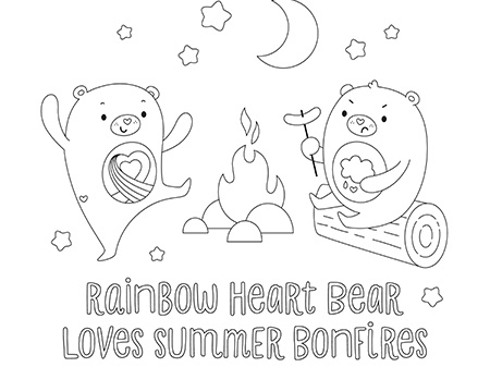 Fun With Care Bears And Cousins Care Bears Coloring Page