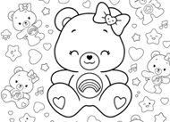 Hot Topic Coloring Sheet Care Bears Activities