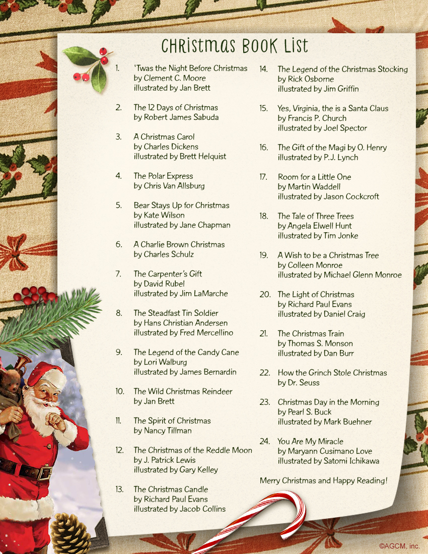 24 of our favorite childrens christmas books printable book list