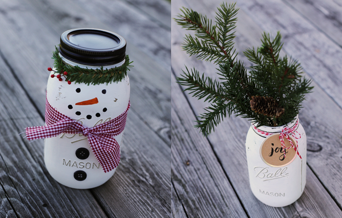 christmas mason jar craft instructions decorated