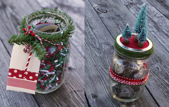 Christmas crafts ideas step by step blue mountain for What to fill mason jars with for christmas