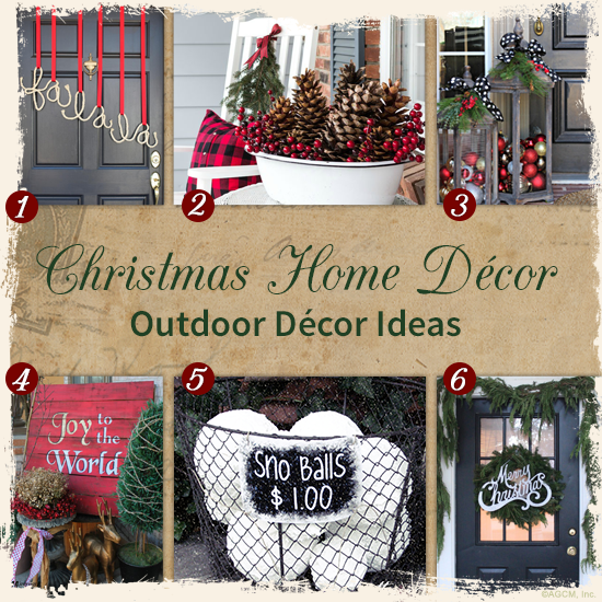 christmas outdoor dcor ideas decorating - Joy Outdoor Christmas Decoration