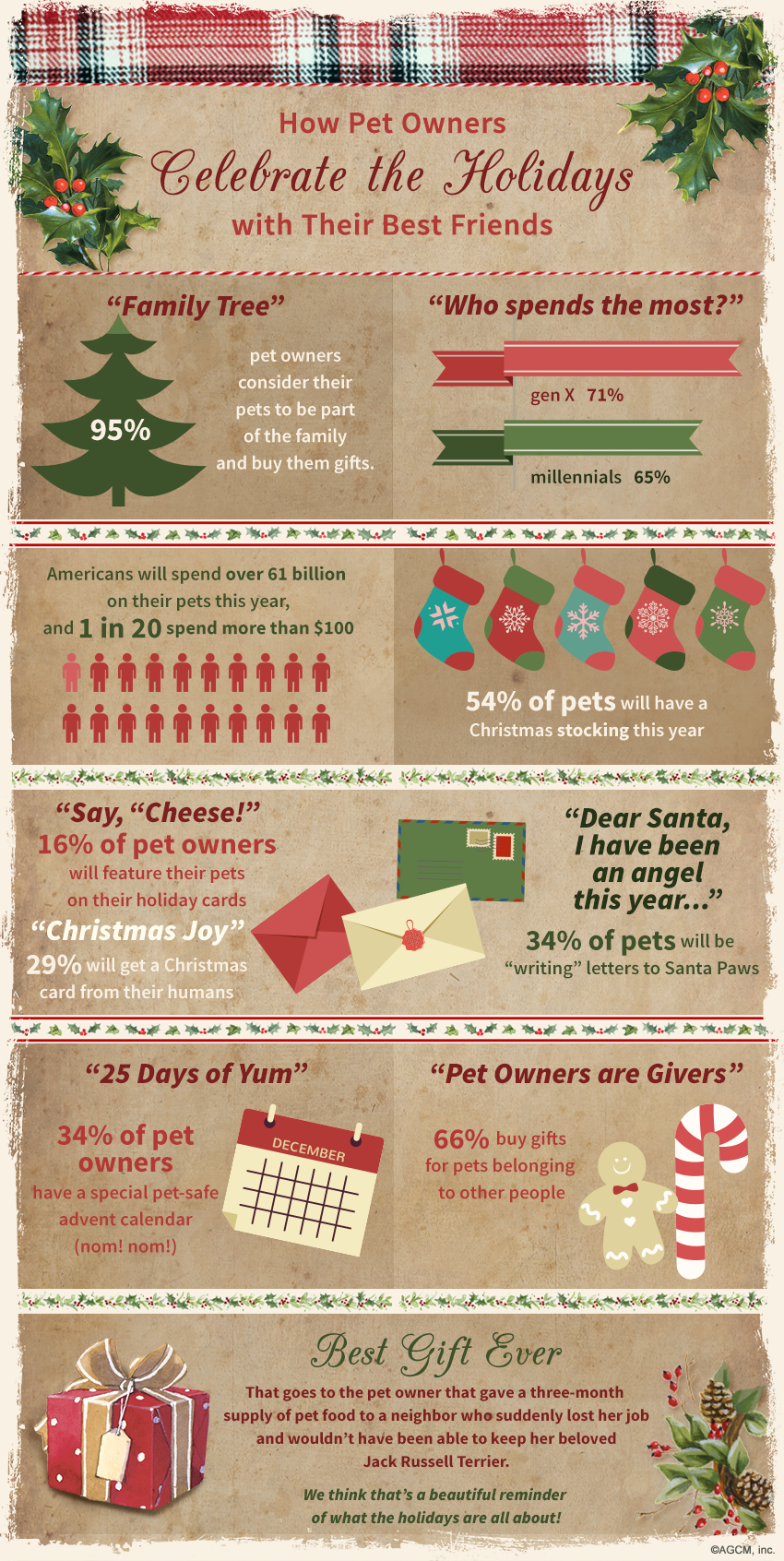 Christmas Pet Infographic; How Pet Owners Celebrate Christmas With Their Pets