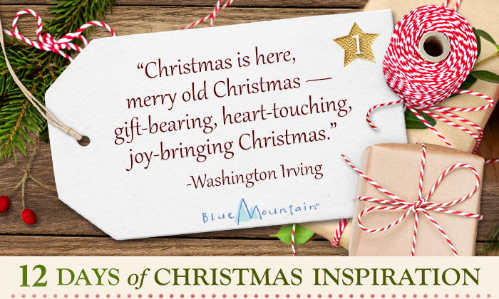 Christmas is here, merry old Christmas - gift bearing, heart-touching, joy-bringing Christmas. -Washington Irving