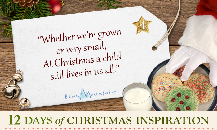 Whether we're grown or very small, at Christmas a child still lives in us all