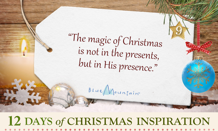 christmas inspiration quote the magic of christmas is not the presents but his