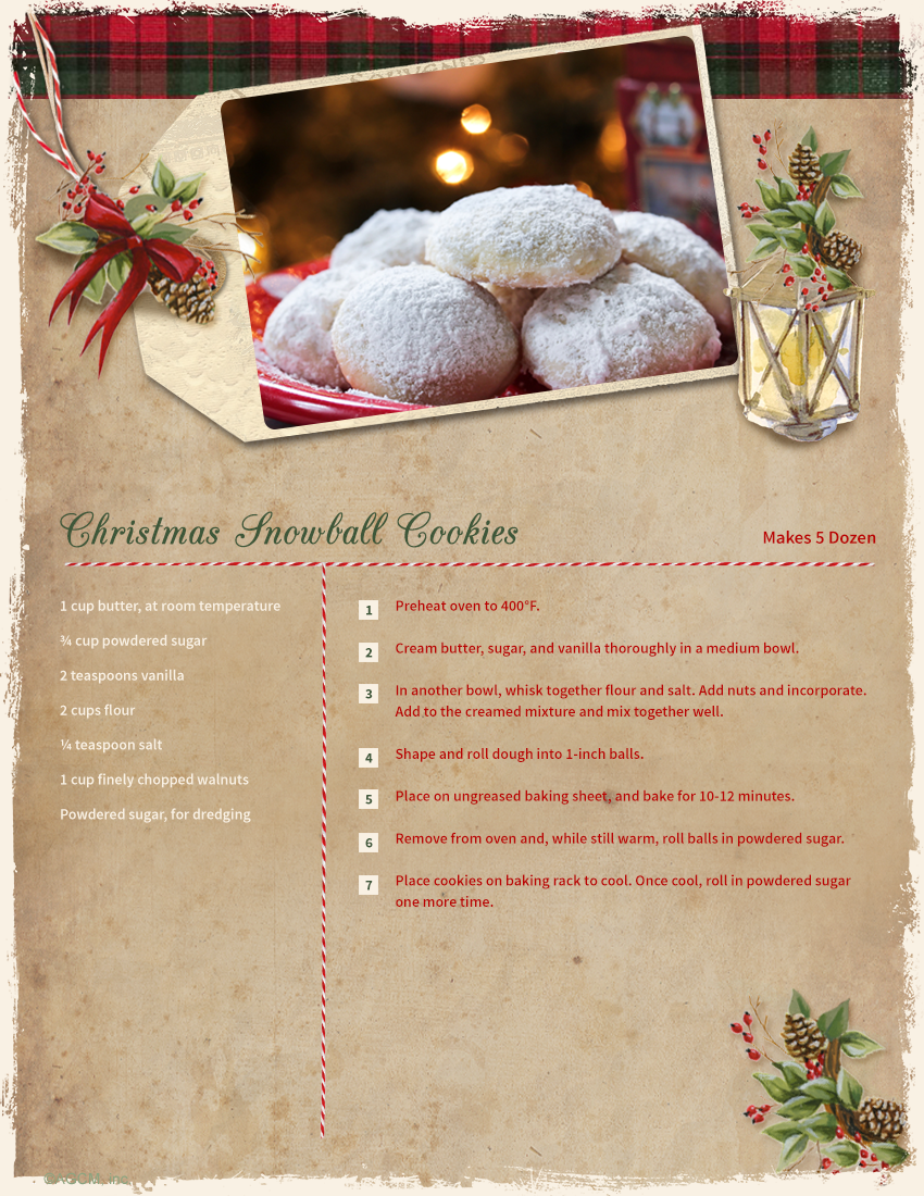 Christmas Snowball Cookie Recipe
