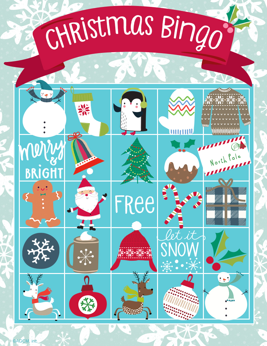 Refreshing image with christmas bingo card printable