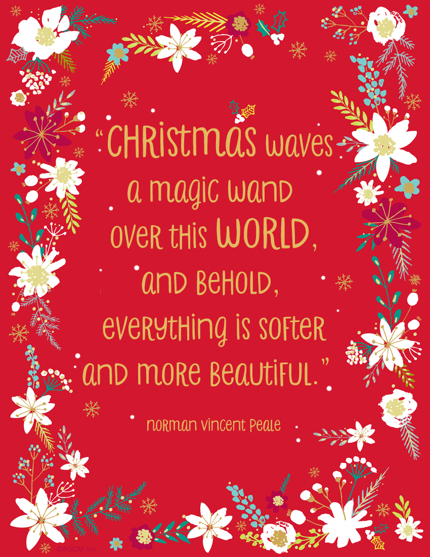 printable christmas quote christmas waves a magic wand over this world and behold