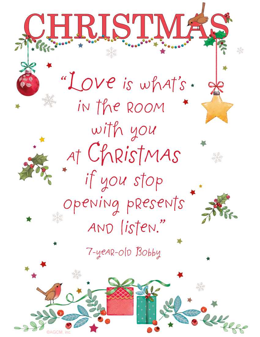 Christmas card sayings quotes wishes blue mountain printable bible quote love is whats in the room with you at christmas if m4hsunfo