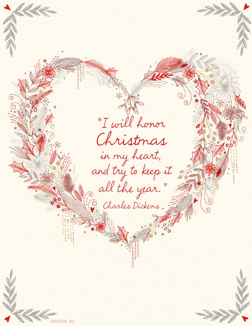 printable bible quote i will honor christmas in my heart and try to - Christmas In My Heart