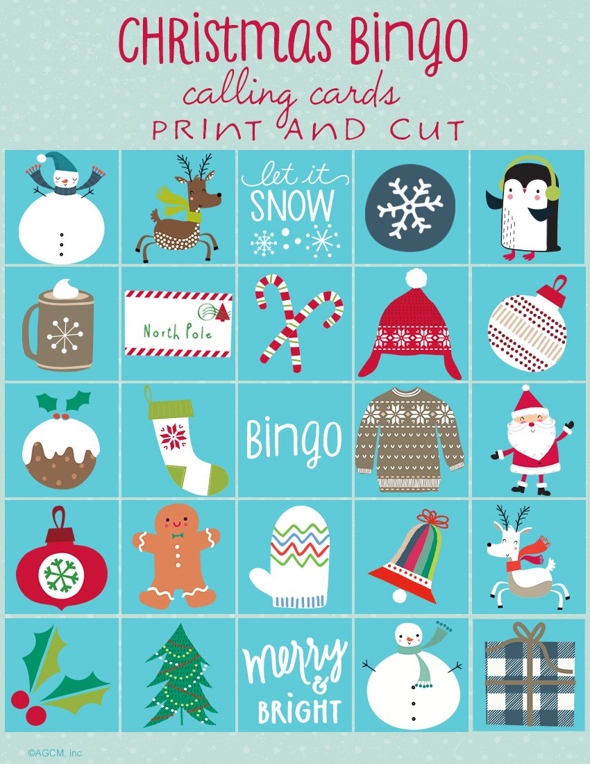 It is a graphic of Zany Free Christmas Bingo Cards Printable