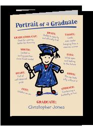 Portrait Graduate 5x7 Folded Card