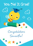 Bumble Bee Congrats 5x7 Folded Card