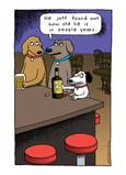 Bar Dog 5x7 Folded Card