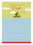 Sailboat Dad 5x7 Folded Card