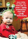 Ridiculous Baby Ears 5x7 Folded Card