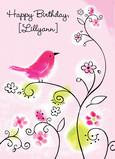 Birthday Birdie 5x7 Folded Card
